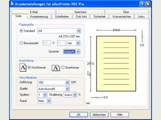 eDocPrinter ist ein systemweiter Druckertreiber zur Erstellung von PDF Dateien.