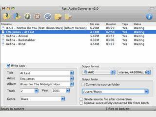 Audiokonverter für Mac OS X der auch dieTonspur aus Videodateien speichern kann