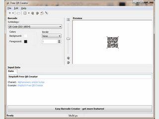 Einfache Software zum Erstellen QR und microQR Codes.