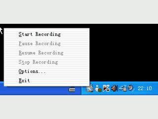 Zeichnet Bildschirmaktivitäten als AVI Video-Datei auf.