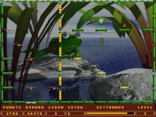 Bestehen Sie zusammen mit Bumpy verschiedene Abenteuer in diesem Plattformspiel