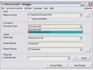 Selektives Entfernen von HTML Code aus HTML Dateien.