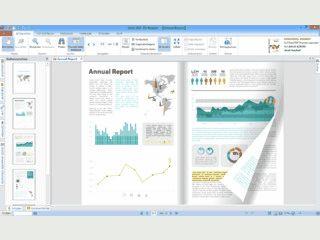 PDF-Dateien können wie ein virtuelles Buch mit Blätterfunktion gelesen werden.