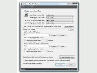 Monitor via Hotkey, Verknüpfung oder Systray  ausschalten.