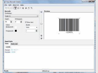 Schnelle Erstellung und Ausdruck von Barcodes aller üblichen Typen.