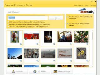 CCFinder sucht bei Flickr nach Bildern die unter Creative Commons Lizenz stehen