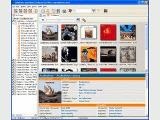 Verwaltung für alle Tonträgetypen wie LP, CD, Mindisc mit CDDB Anbindung.