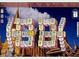 Mahjong -Spiel mit 7 Spielarten. Auch über das Internet spielbar,