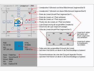 Screen Ruler 2D ist ein Bildschirm-Massstab mit integrierter Farbmessung.