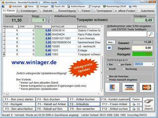 Kassensoftware und Lagerverwaltung