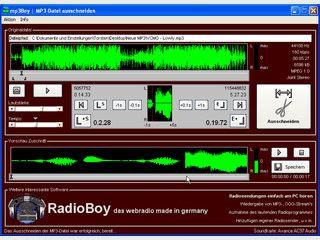 MP3-Dateien beschneiden und/oder zusammenfügen.