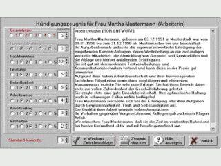 Software zur Erstellung und Verwaltung von Arbeitszeugnissen