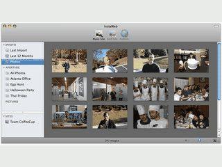 Sehr schnell eine Webseite aus eigenen Bildern erstellen und veröffentlichen.