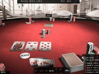 Anspruchsvolles Texas Hold´em Poker mit Einzelspiel, Multiplayer und Tutorial