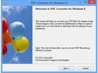 Konvertieren von PDF in JPEG, BMP, PNG, GIF, TIFF, TXT, HTM, EMF, WMF, EPS.