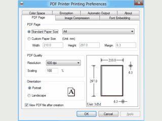 Erstellen von PDF-Dateien aus alle Anwendungen mit Druckfunktion.