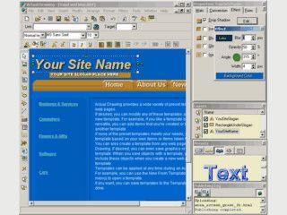 Visuelles Tool zur Erstellung von HTML Seiten.