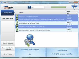 Wiederherstellung und sicheres Löschen von Dateien.