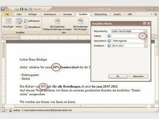 Sehr umfangreicher Text-Editor mit Trennung von Text und Formatierung.