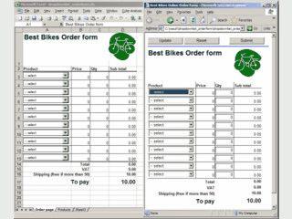 Kalkulierende Webseiten mit Excel erstellen.