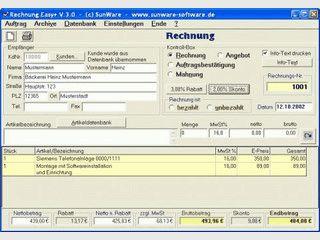 Rechnungen, Angebote, Autragsbestätigungen und Mahnungen erstellen