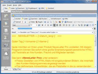 Mailprogramm zum Erstellen von personalisierten Serienmails