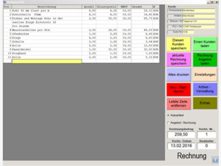 Einfaches Rechnungsprogramm für Ich-AGs oder Kleingewerbe