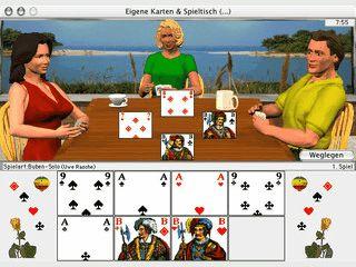 Das bekannte Kartenspiel Schafkopf in einer gelungenen 3D Umsetzung