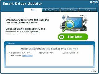 Smart Driver Updater findet und aktualisiert alte Treiber automatisch.