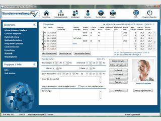 Verwaltung von Arbeitszeitstunden inkl. Arbeitszeitmodellen