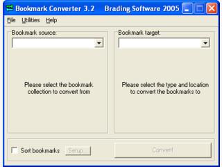 Bookmarks zwischen dem Internet Explorer und Netscape abgleichen.