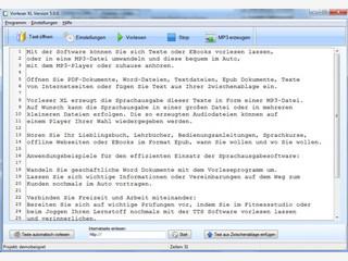 Text to Speech Software zum Vorlesen von Texten und Erstellen von MP3s