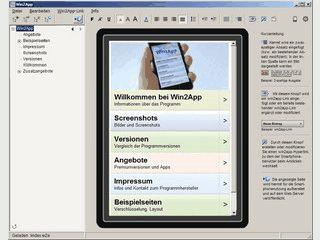 Windowsprogramm zum Erstellen von mobilen Webseiten und WebApps