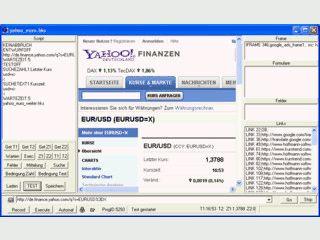 Per Mouse-clicks oder Scripts Web-Seiten nach festgelegten Programm steuern