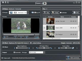 Weltpremiere: MakeMe3D erzeugt echte 3D-Videos aus Ihren Filmen!