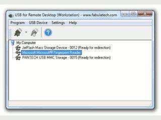 Zugriff auf lokale USB-Geräte in einer Remote Desktop Verbindung.
