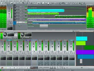 Mehrspur-Audiorecorder und Soundbearbeitung