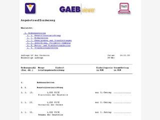 Zum Anzeigen von GAEB-Dateien