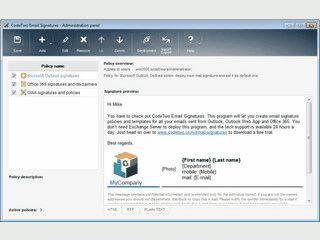 Signatur-Verwaltung für MS Outlook, Outlook Web App und Office 365.