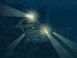 20.000 Meilen unter dem Meer finden Sie die Nautilus.
