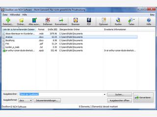 Dokumente aus verschiedenen Formaten umwandeln mit Batch-Verarbeitung.