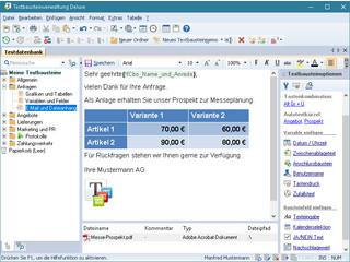 Freeware - fuer privat und gewerblich kostenlose Textbausteinverwaltung