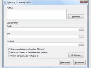 QBackup - Zuverlässige Datensicherung.