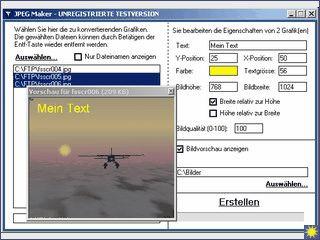 JPEG Maker erlaubt das automatische Konvertieren von verschiedensten Grafiken.