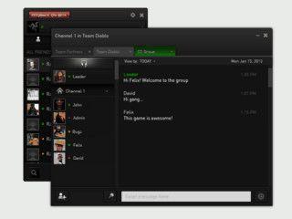 Voice-Chat-Software für Onlinespieler.