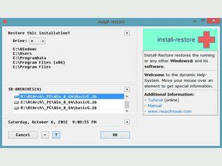 Schnelle Ein-Klick-Sicherung und -Wiederherstellung f�r Windows.