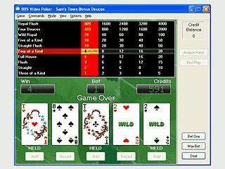 Video Poker Automat mit verschiedenen Spiel-, bzw. Gewinnoptionen.
