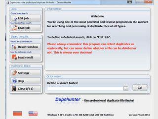 Dupehunter ist ein schnelles Programm, um doppelte Dateien zu finden.
