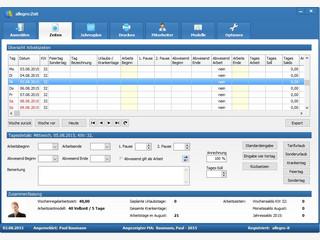 Arbeitszeitverwaltung für unterschiedliche Arbeitszeitmodelle.