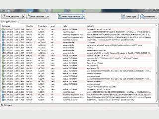 Grafisches Tail für Windows zum Ansehen von Logfiles mit Filtern.